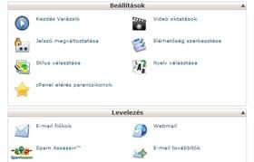 Nézze meg a cPanel online webtárhely beállításkezelő rendszert.